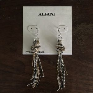 Alfani Knotted Lariat Dangle Earrings